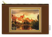 Landscape Scene - Germany L A With Decorative Ornate Printed Frame. Carry-all Pouch