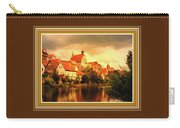 Landscape Scene - Germany. L B With Decorative Ornate Printed Frame. Carry-all Pouch