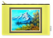 Landscape Scene Near Virginiahurst L B With Alt. Decorative Onate Printed Frame  Carry-all Pouch