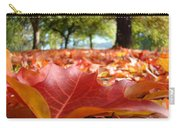 Landscape Trees Park Art Prints Autumn Fall Leaves Baslee Troutman Carry-all Pouch