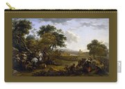 Landscape With A Hunting Party Nicolaes Claes Pietersz Berchem Carry-all Pouch