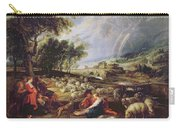 Landscape With A Rainbow Carry-all Pouch by Rubens