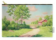 Landscape With A Red Cottage Carry-all Pouch