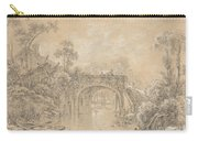 Landscape With A Rustic Bridge Carry-all Pouch