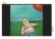Landscape With Boy And Red Balloon Carry-all Pouch