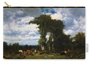 Landscape With Cattle At Limousin 1837 Carry-all Pouch