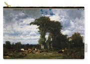 Landscape With Cattle At Limousin Carry-all Pouch