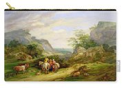 Landscape With Figures And Cattle Carry-all Pouch by James Leakey