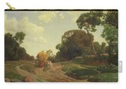 Landscape With Haywagon Carry-all Pouch