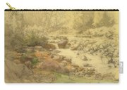 Landscape With Rocks In A River Carry-all Pouch