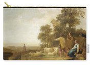 Landscape With Shepherds And Shepherdesses Near A Well Carry-all Pouch