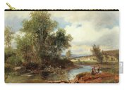 Landscape With Stream And Decorative Figures Carry-all Pouch