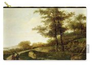 Landscape With Village Path And Men Carry-all Pouch