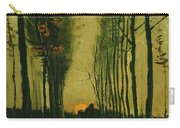 Lane Of Poplars At Sunset Carry-all Pouch