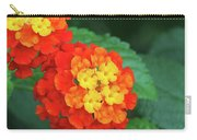 Lantana Bandana Red Flower Carry-all Pouch