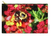 Lantanas And The Bee Carry-all Pouch