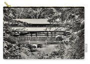 Lanterman's Mill Covered Bridge Black And White Carry-all Pouch