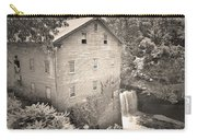 Lanterman's Mill In Mill Creek Park Black And White Carry-all Pouch