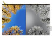 Larches Color To Black And White Reflection Carry-all Pouch