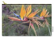 Large Bird Of Paradise Flower In Full Bloom  Carry-all Pouch