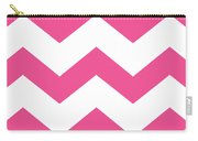 Large Chevron With Border In French Pink Carry-all Pouch