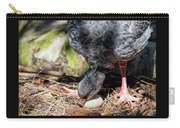 Large Gray South American Nesting Bird Rotating Egg Carry-all Pouch