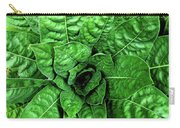 Large Green Display Of Concentric Leaves Carry-all Pouch