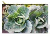 Large Leaves Of A Cabbage Plant Carry-all Pouch