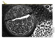 Large Oreo Black And White  Carry-all Pouch