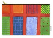 Large Rectangle Fields Between Red Grid  Carry-all Pouch