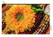 Large Sunflower On Indian Corn Carry-all Pouch
