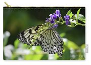 Large Tree Nymph Polinating Dainty Purple Flowers Carry-all Pouch