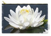 Large Water Lily With White Border Carry-all Pouch