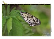 Large White Tree Nymph Butterfly On Green Foliage Carry-all Pouch