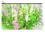Larkspur Flowers In Soft Oil Style Carry-all Pouch
