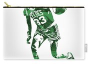 Larry Bird Boston Celtics Pixel Art 10 Carry-all Pouch