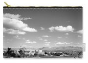 Las Cruces Mountains Black And White Carry-all Pouch