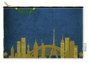 Las Vegas City Skyline State Flag Of Nevada Art Poster Series 018 Carry-all Pouch