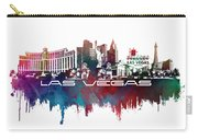 Las Vegas Skyline City Blue Carry-all Pouch