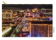 Las Vegas Strip North View Night 2 To 1 Ratio Carry-all Pouch
