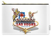 Las Vegas Symbolic Sign On White Carry-all Pouch