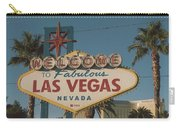 Las Vegas Welcome Sign With Vegas Strip In Background Carry-all Pouch