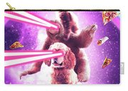 Laser Eyes Space Cat Riding Sloth, Dog - Rainbow Carry-all Pouch