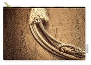 Lasso On Leather Carry-all Pouch