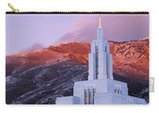 Last Light At Draper Temple Carry-all Pouch