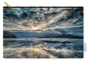 Last Light Isle Of Rum From Isle Of Eigg Carry-all Pouch