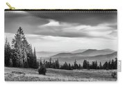 Last Light Of Day In Bw Carry-all Pouch