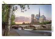 Last Light On Notre Dame De Paris Carry-all Pouch