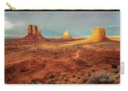 Last Light Over Monument Valley Carry-all Pouch