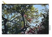 Late Afternoon Tree Silhouette With Bougainvileas II Carry-all Pouch